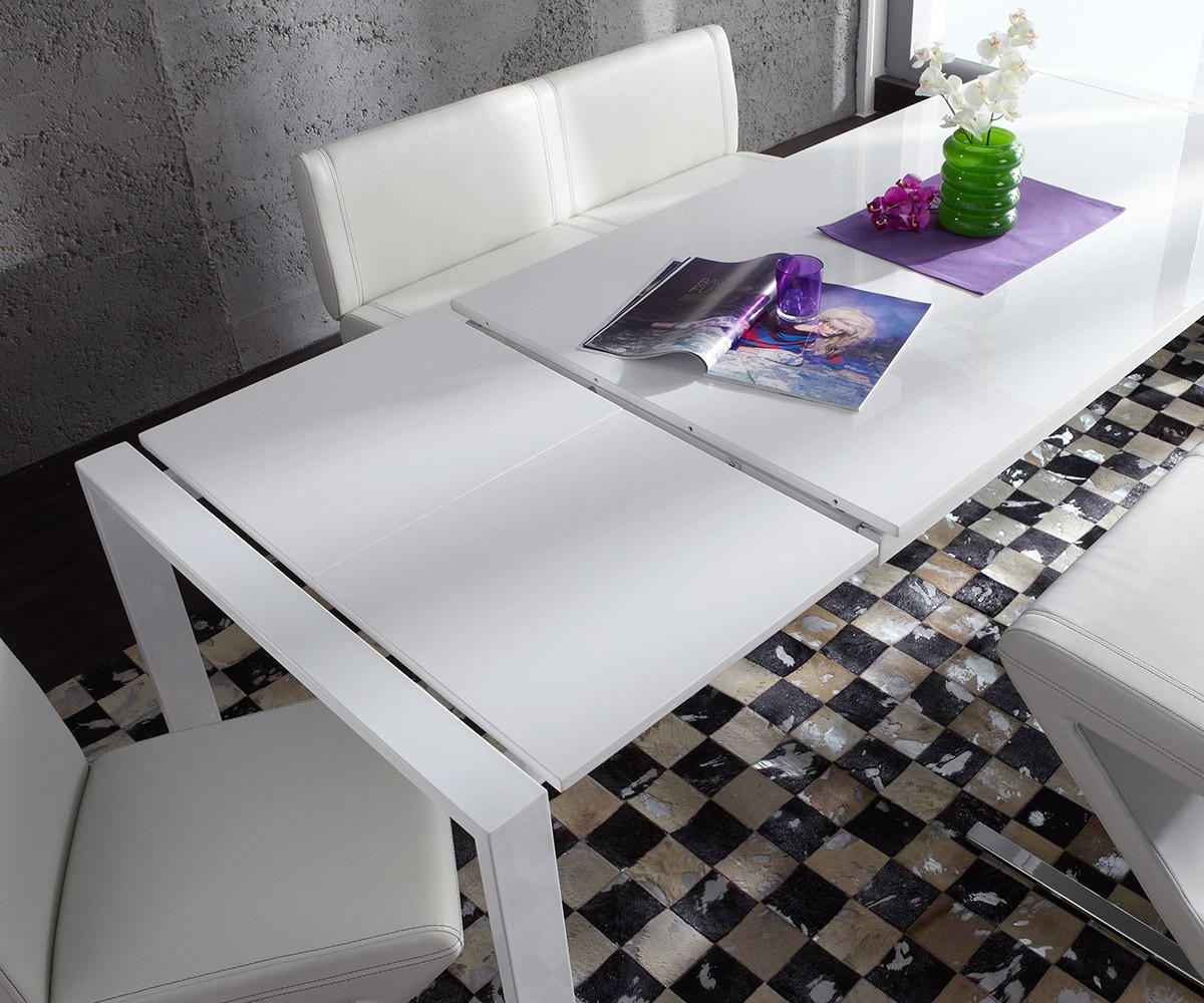 esstisch extendable cm weiss hochglanz esszimmertisch ebay. Black Bedroom Furniture Sets. Home Design Ideas