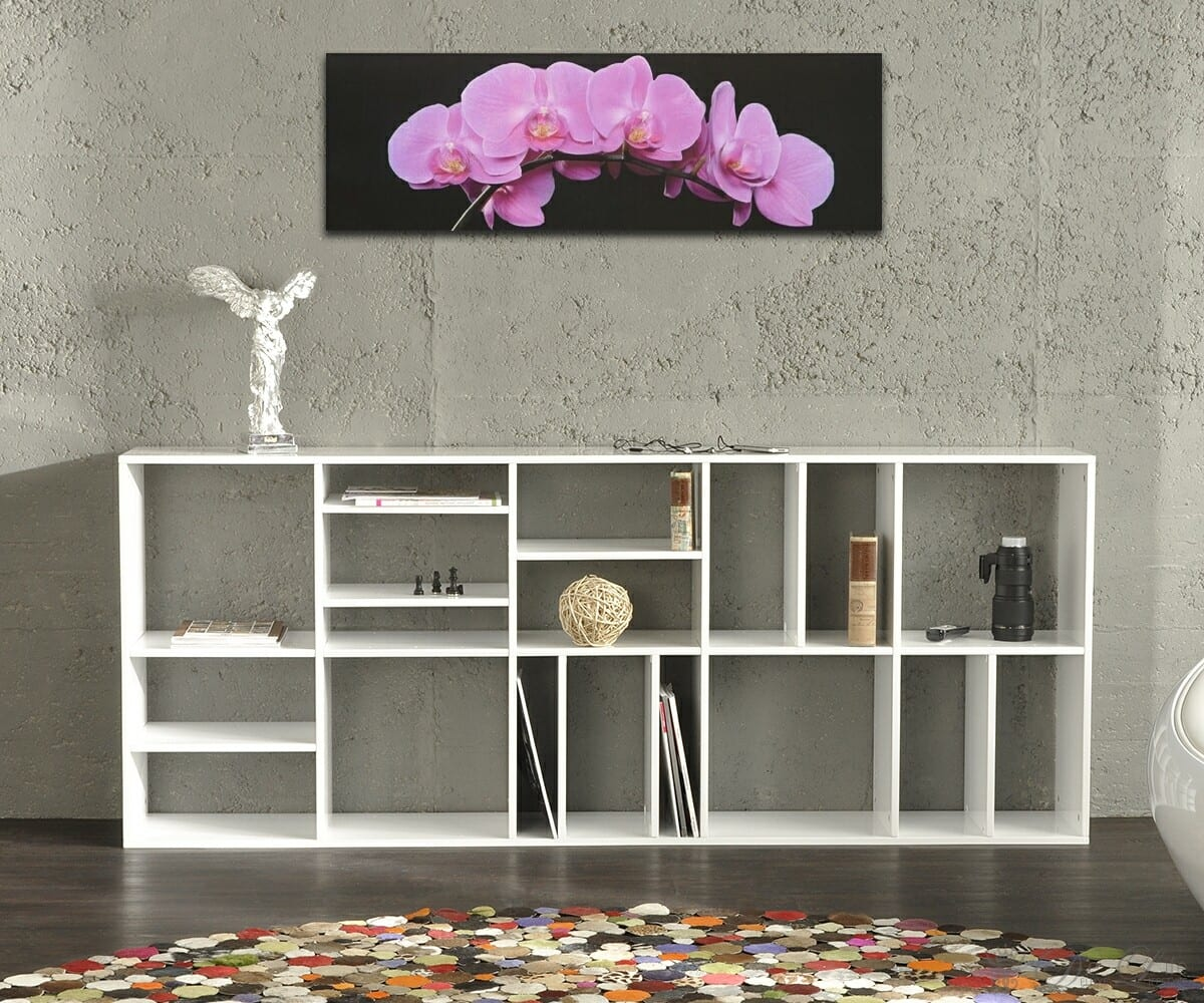 b cherregal verne 200x82 cm weiss hochglanz lackiert. Black Bedroom Furniture Sets. Home Design Ideas