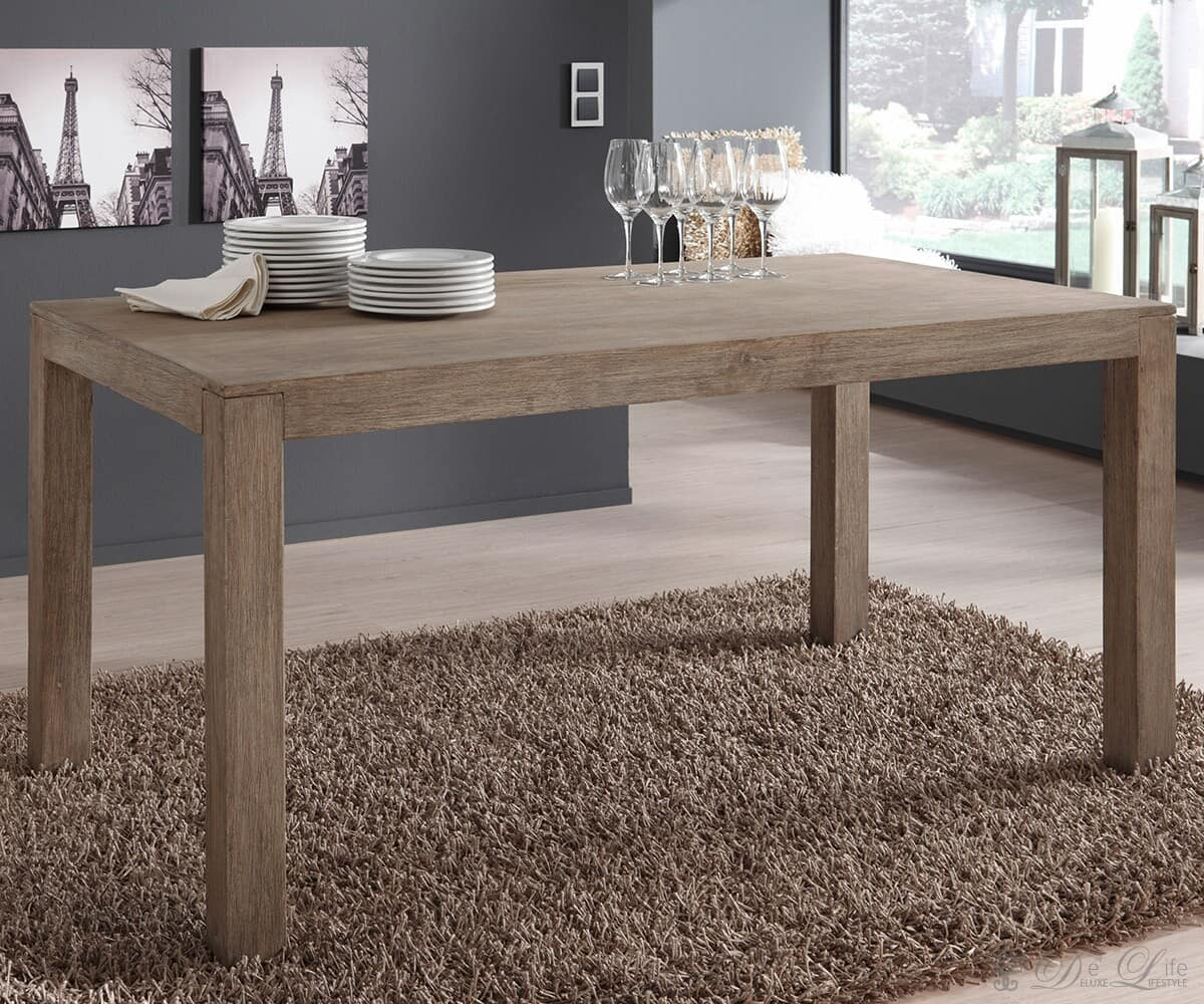 guru esstisch 140x90 cm akazie sand esszimmertisch by wolf m bel ebay. Black Bedroom Furniture Sets. Home Design Ideas