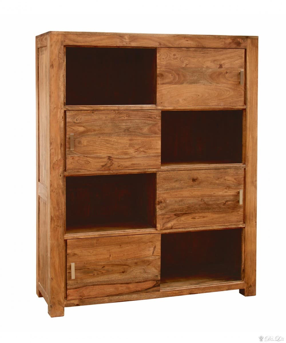 guru regal 130x162 akazie honig schrank 4 schiebet ren by wolf m bel schrank ebay. Black Bedroom Furniture Sets. Home Design Ideas