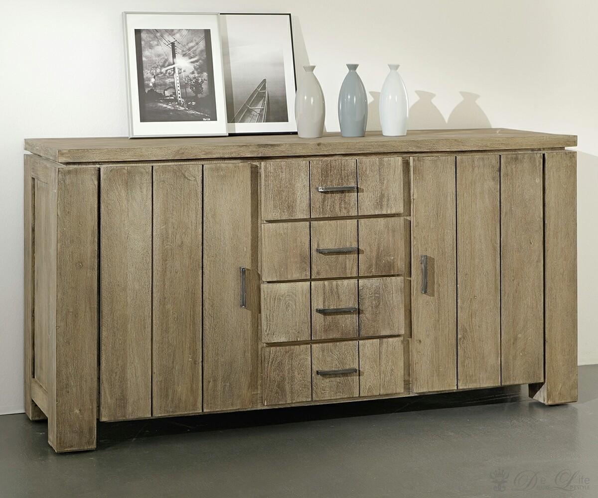 wolf moebel venice kommode akazie sand mit 2 tueren 4. Black Bedroom Furniture Sets. Home Design Ideas