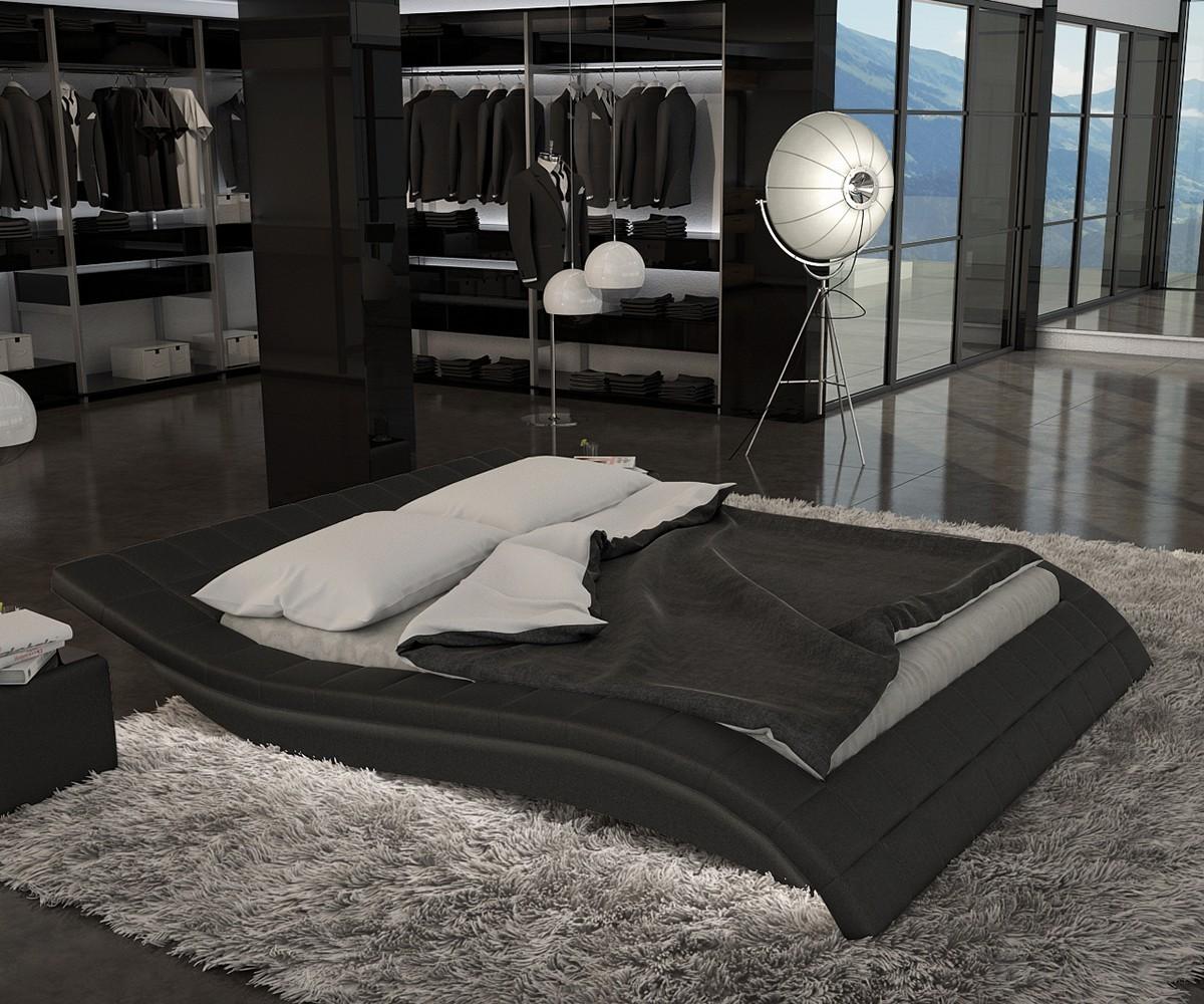 delife bett queens 140x200 cm schwarz schlafzimmermoebel polsterbett 140 cm 679 b2b trade. Black Bedroom Furniture Sets. Home Design Ideas