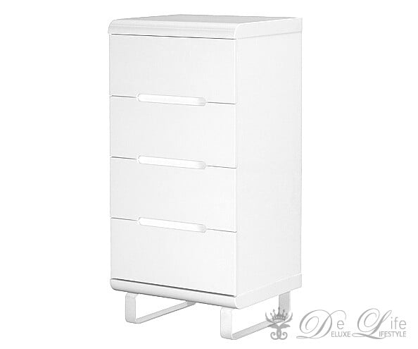 kommode ropero 55x115 cm weiss hochglanz 4 schubladen mit softclose ebay. Black Bedroom Furniture Sets. Home Design Ideas