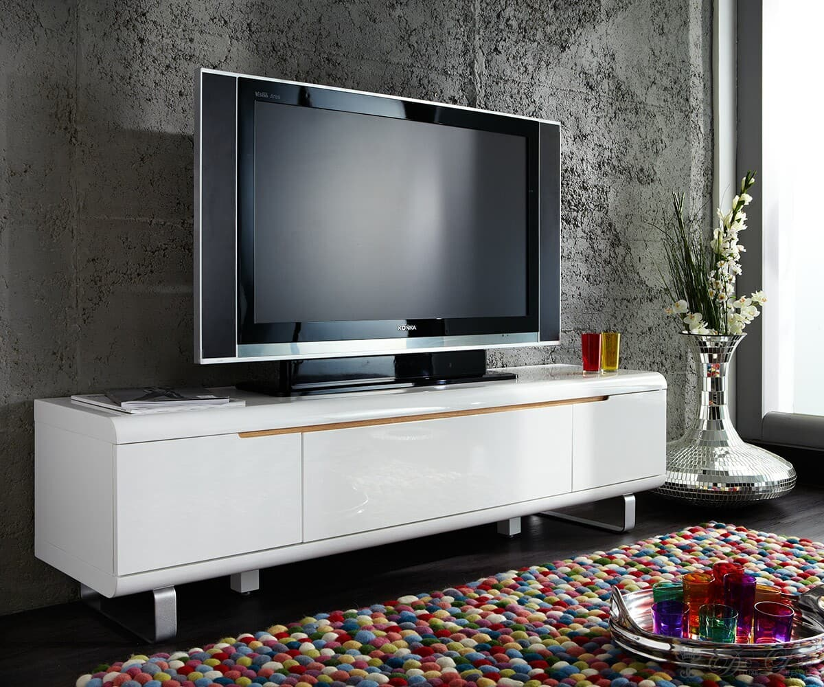 tv board ropero 180x45 weiss hochglanz tv m bel 1 klappe 2. Black Bedroom Furniture Sets. Home Design Ideas
