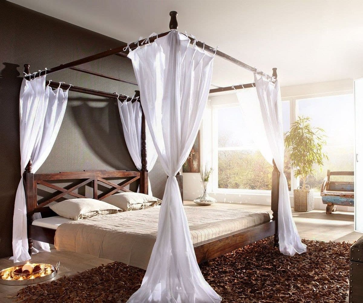 himmelbett bombay 180x200 kolonial sheesham by wolf m bel betten himmelbetten. Black Bedroom Furniture Sets. Home Design Ideas