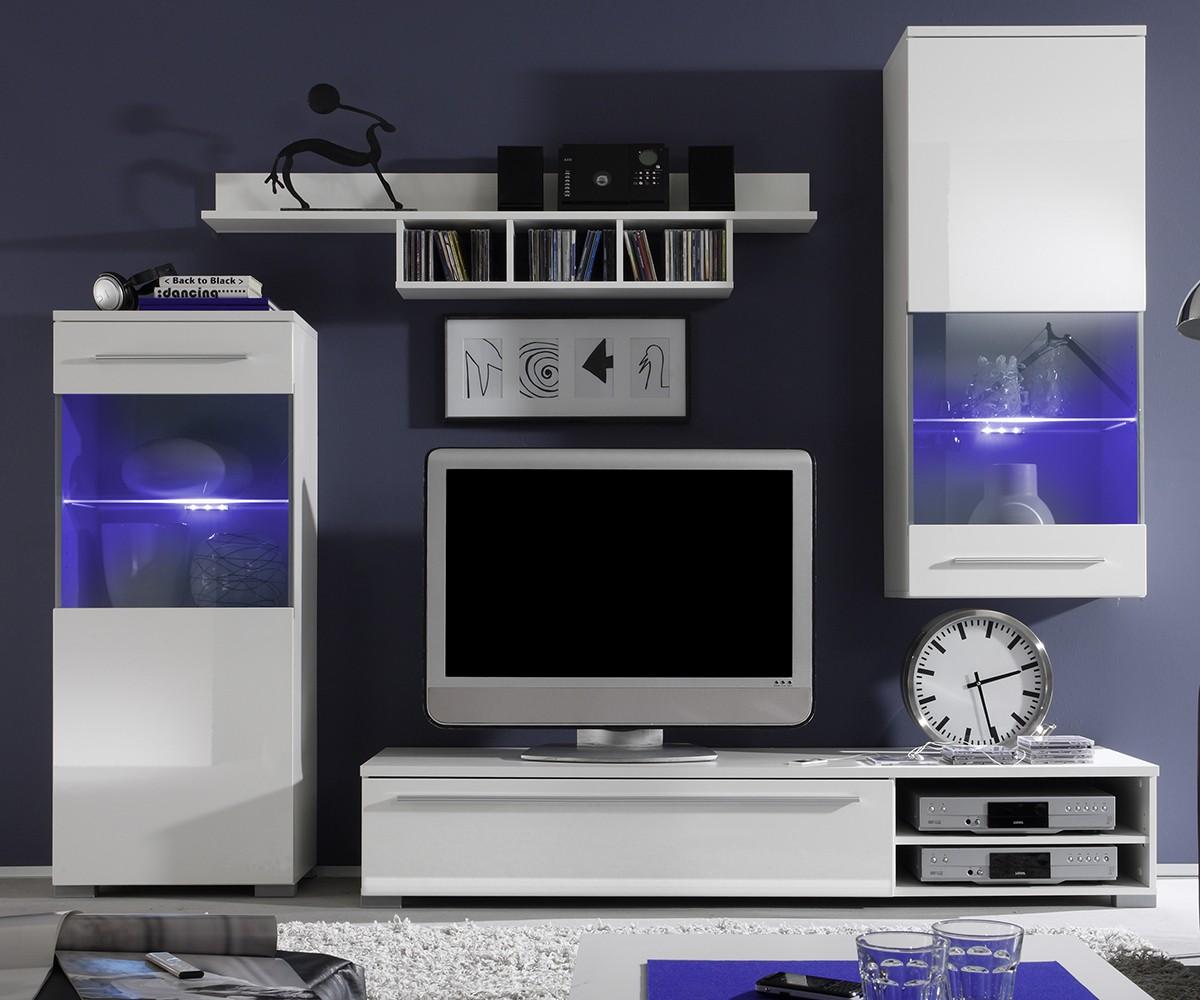 wohnwand mit led bestseller shop f r m bel und einrichtungen. Black Bedroom Furniture Sets. Home Design Ideas