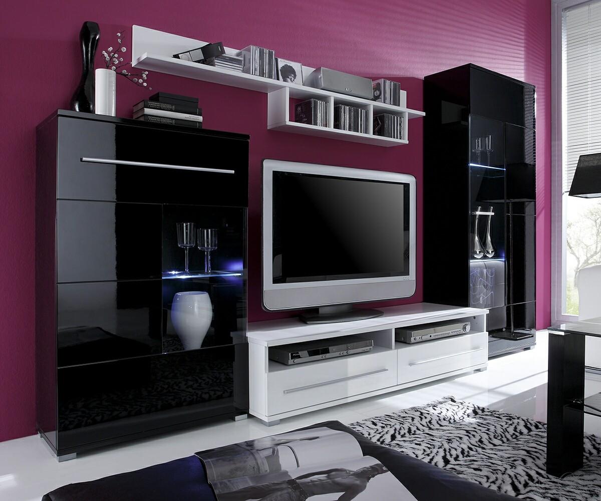 Wohnzimmermobel weis eiche beste bildideen zu hause design for Graue wohnwand