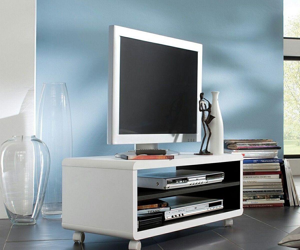 lowboard mit rollen schwarz beste bildideen zu hause design. Black Bedroom Furniture Sets. Home Design Ideas