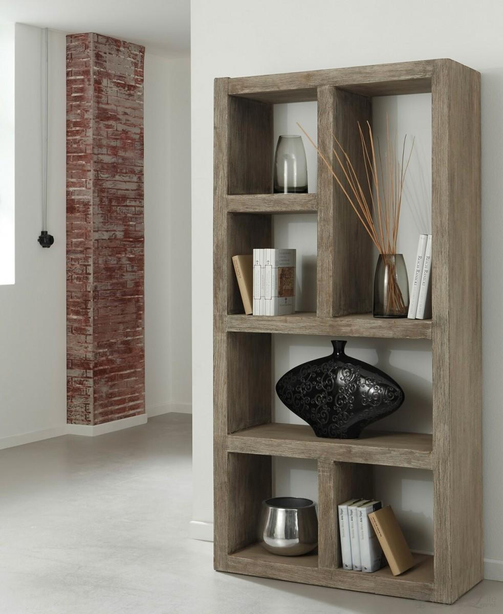 venice raumteiler 90x180 cm akazie sand regal 6 f cher standregal by wolf m bel ebay. Black Bedroom Furniture Sets. Home Design Ideas
