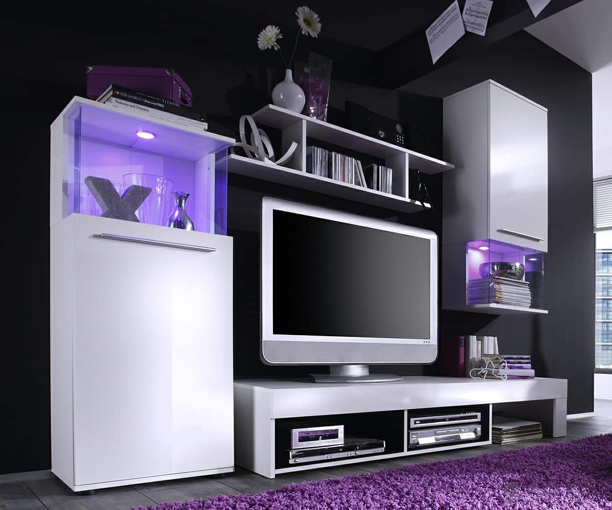 preisvergleich eu wohnwand glanz. Black Bedroom Furniture Sets. Home Design Ideas