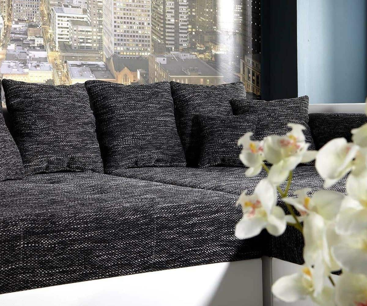 bigsofa marlen 300x140 cm weiss schwarz couch m bel sofas big sofas. Black Bedroom Furniture Sets. Home Design Ideas