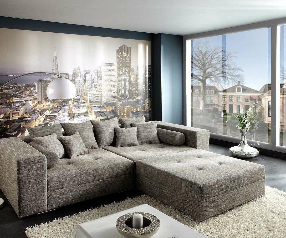 bigsofa marlen 300x140 cm hellgrau couch m bel sofas big sofas. Black Bedroom Furniture Sets. Home Design Ideas