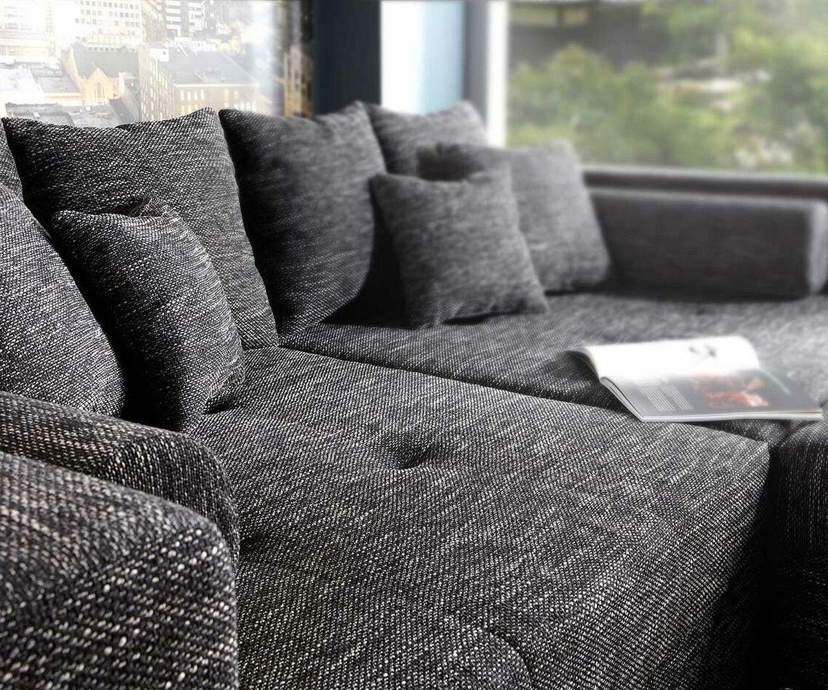 xxl sofa marlen 300x140 cm schwarz big sofa. Black Bedroom Furniture Sets. Home Design Ideas