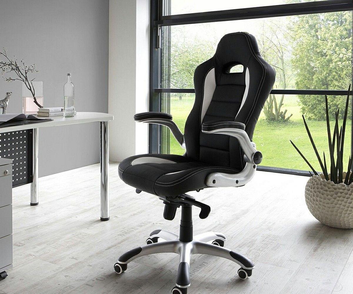 chefsessel renzo schwarz weiss b rostuhl verstellbar m bel st hle schreibtischst hle. Black Bedroom Furniture Sets. Home Design Ideas