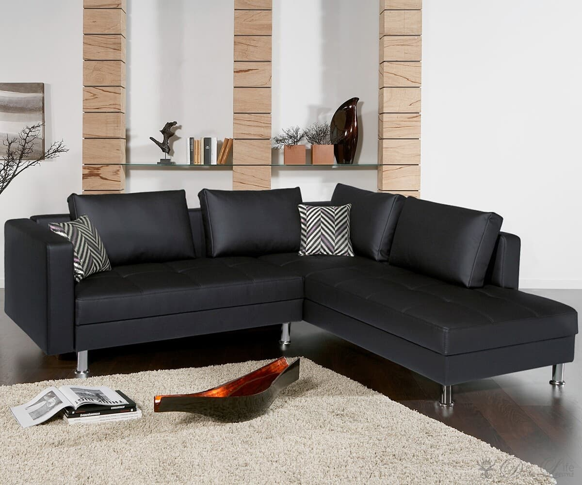 sofa miranda black napalon leather couch with ottoman. Black Bedroom Furniture Sets. Home Design Ideas