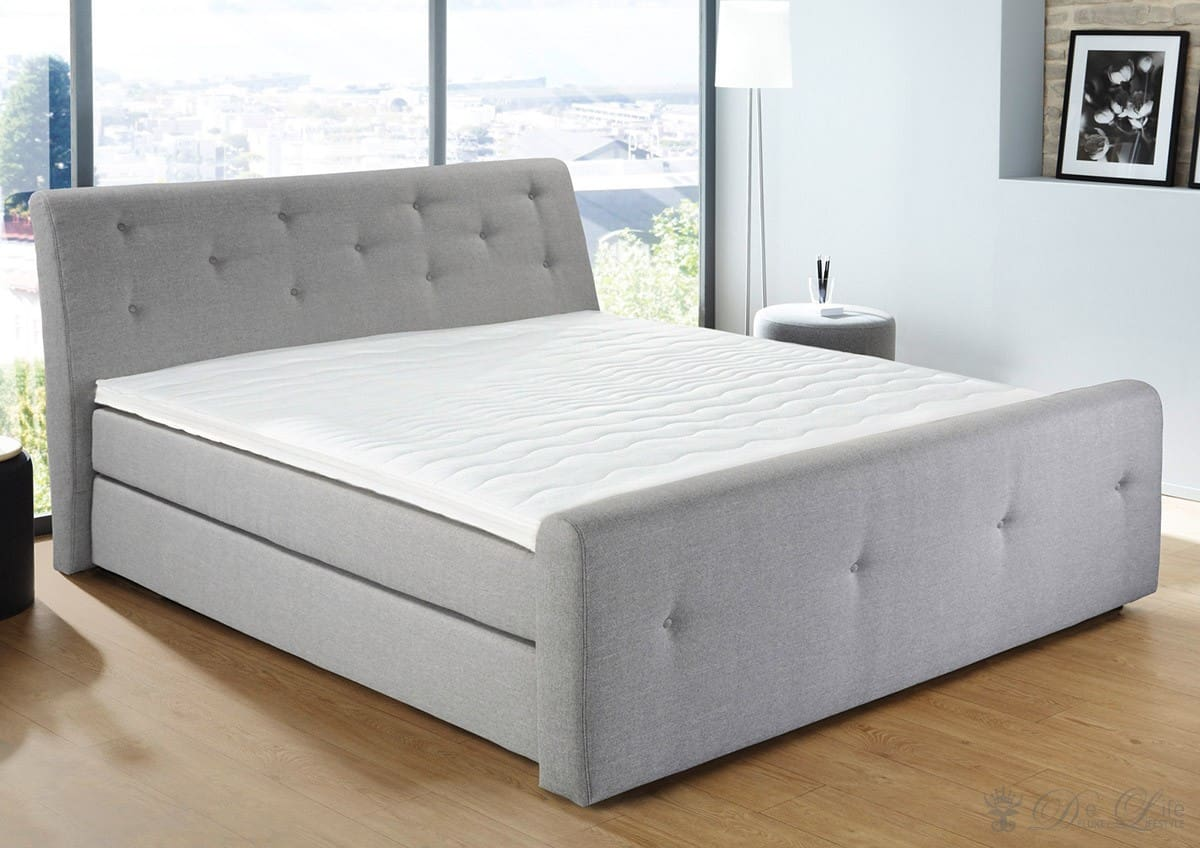 boxspringbett mirados 180x200 cm grau bett mit matratze 180 cm ebay. Black Bedroom Furniture Sets. Home Design Ideas