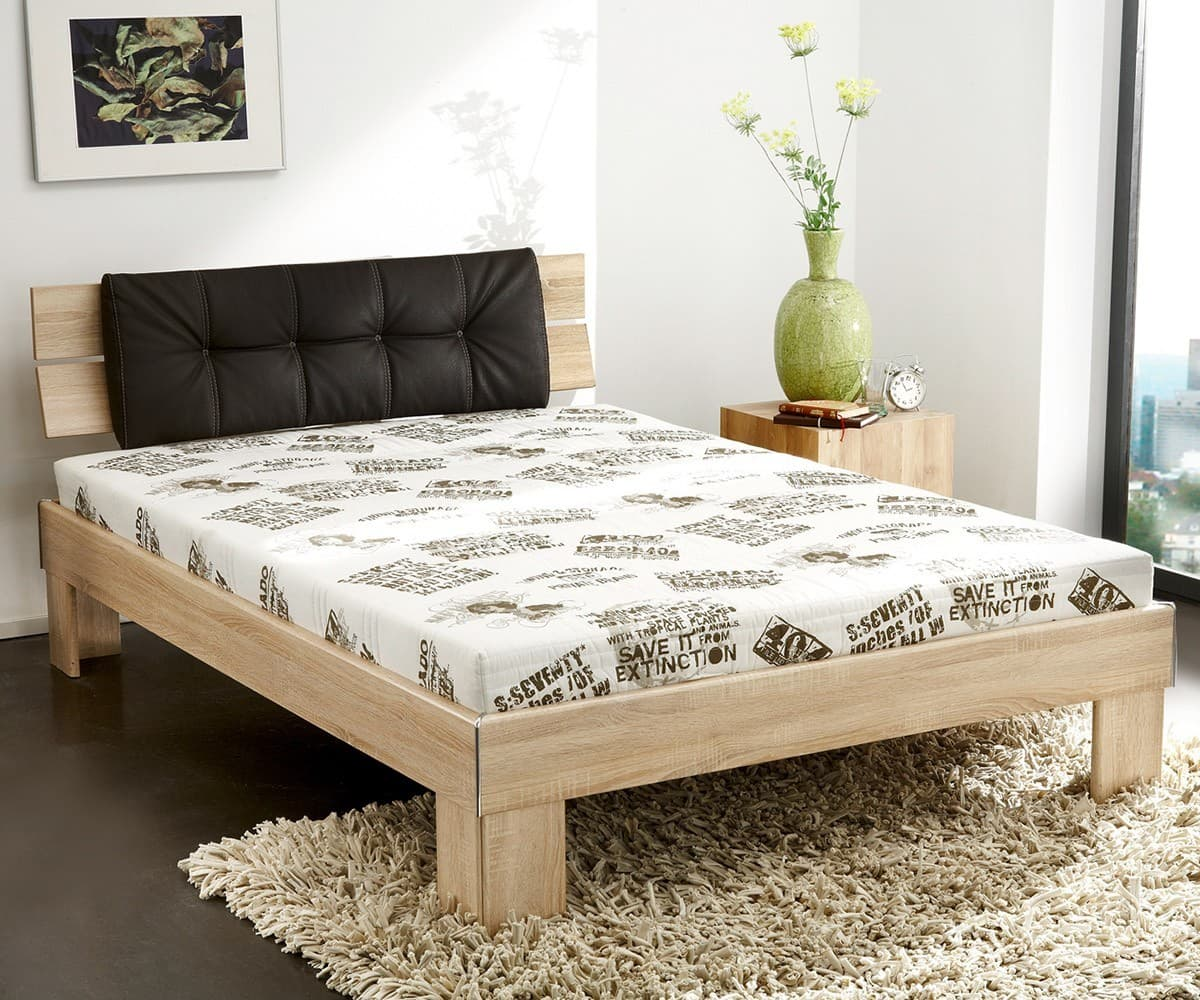 komplett bett clair 140x200 eiche dekor s gerau bett inkl matratze ebay. Black Bedroom Furniture Sets. Home Design Ideas
