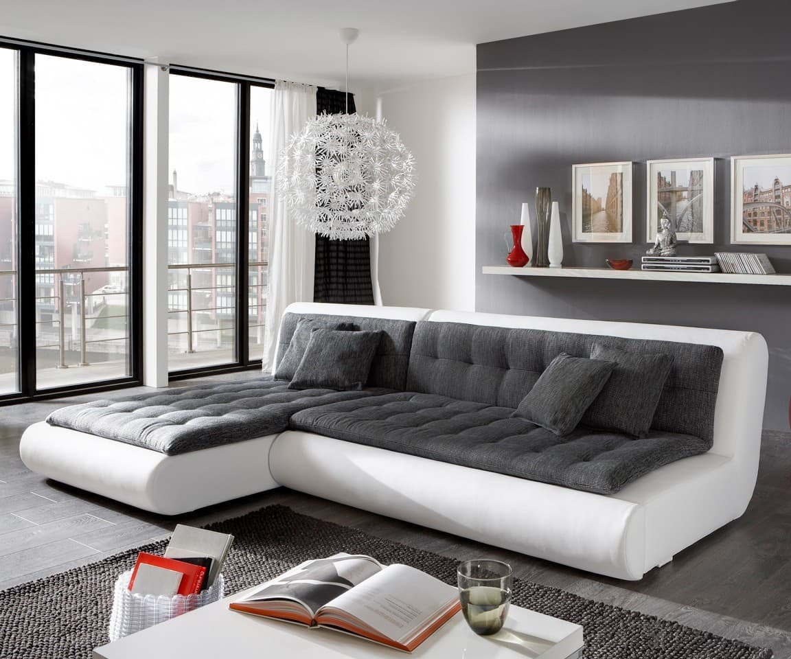 sofa exit 280x190 weiss anthrazit couch mit bettkasten schlafsofa ebay. Black Bedroom Furniture Sets. Home Design Ideas