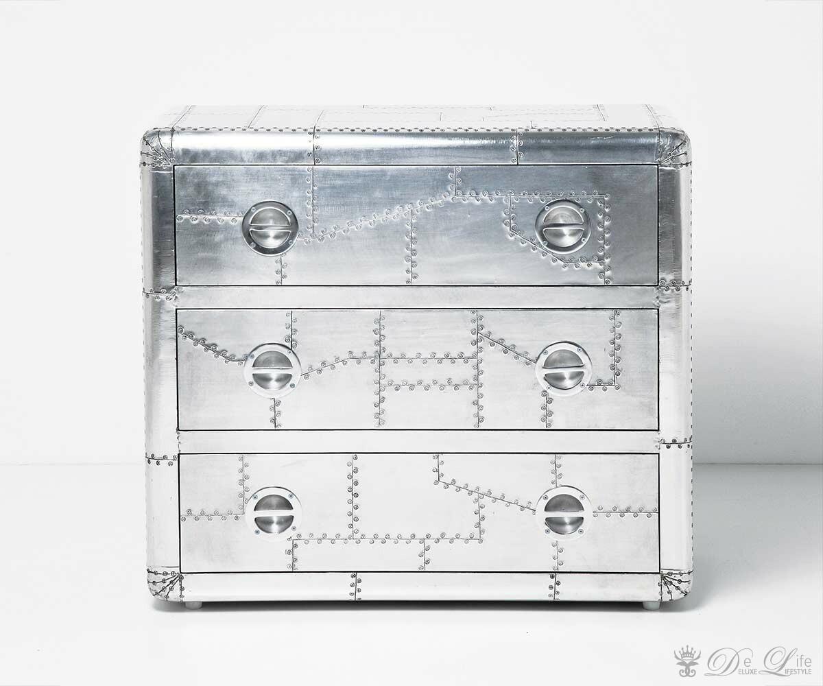 Kommoden Kare Design : Kommode Soho 90x80 cm Silberfarben by Kare Design