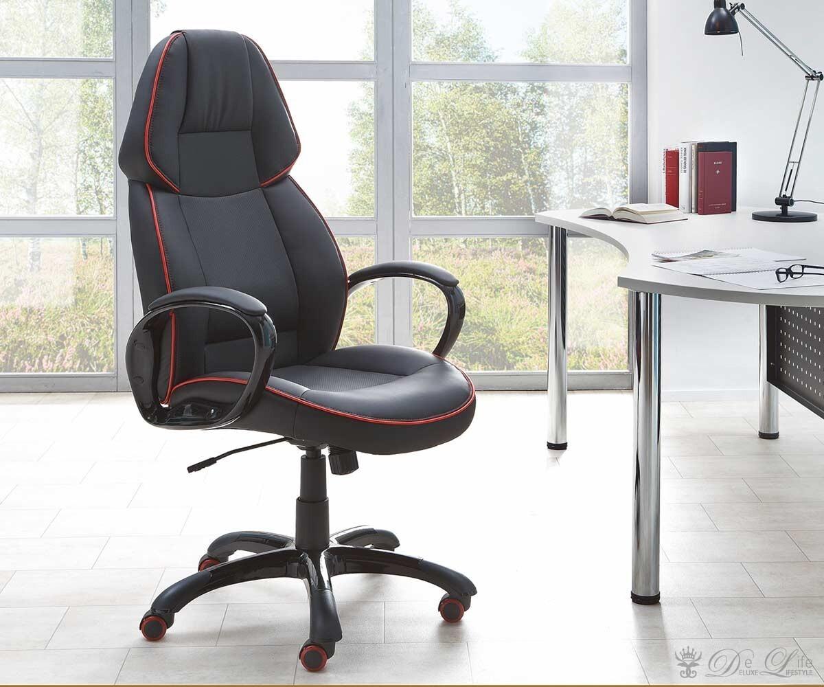 Schreibtischstuhl  Bürostuhl Mauritius Schwarz Schreibtischstuhl höhenverstellbar ...