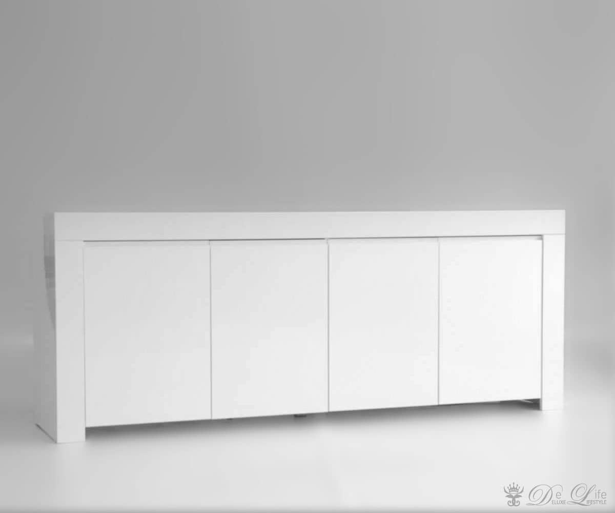 kommode benedikt hochglanz weiss 210x85cm sideboard 4 t ren ebay. Black Bedroom Furniture Sets. Home Design Ideas