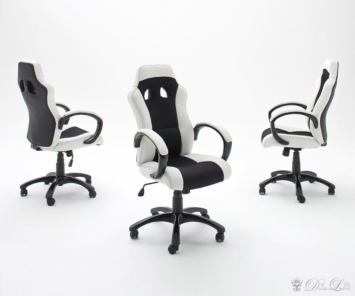 Schreibtischstuhl schwarz weiß  Schreibtischstuhl Sport Owe Schwarz Weiss Bürostuhl ...