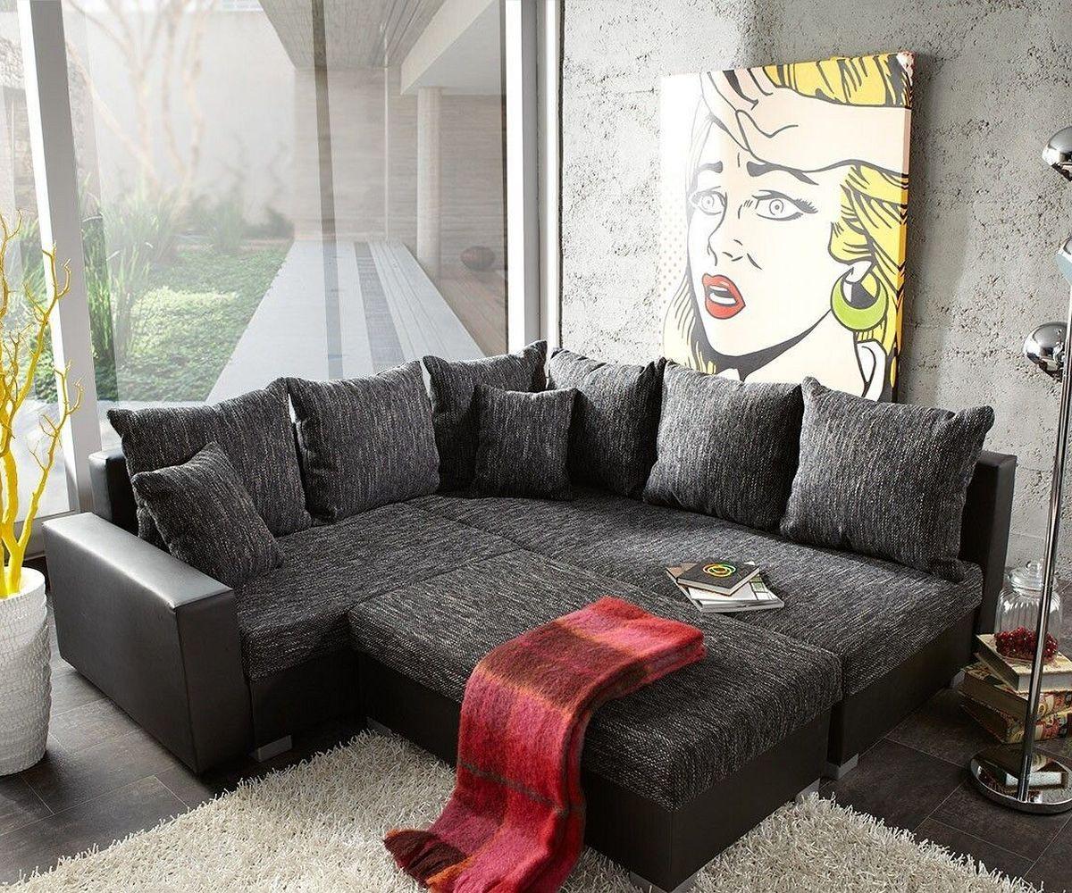ecksofa lavello 210x210cm grau schwarz ottomane rechts m bel sofas ecksofas. Black Bedroom Furniture Sets. Home Design Ideas