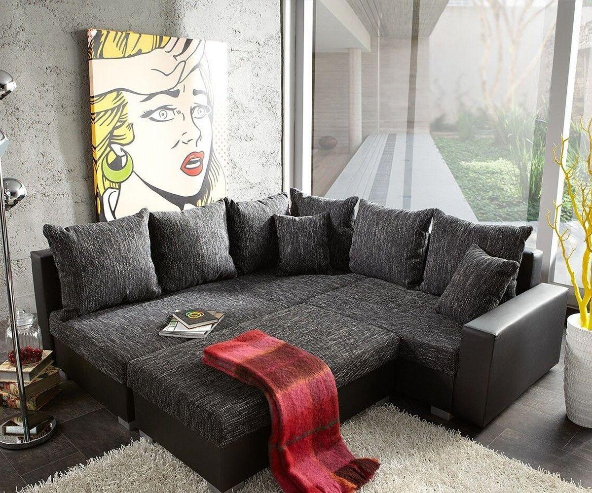 ecksofa lavello 210x210 schwarz couch mit hocker m bel sofas ecksofas. Black Bedroom Furniture Sets. Home Design Ideas