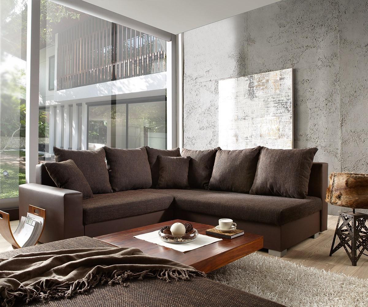 Bemerkenswert Braune Wand Wohnzimmer Couch Auf Home
