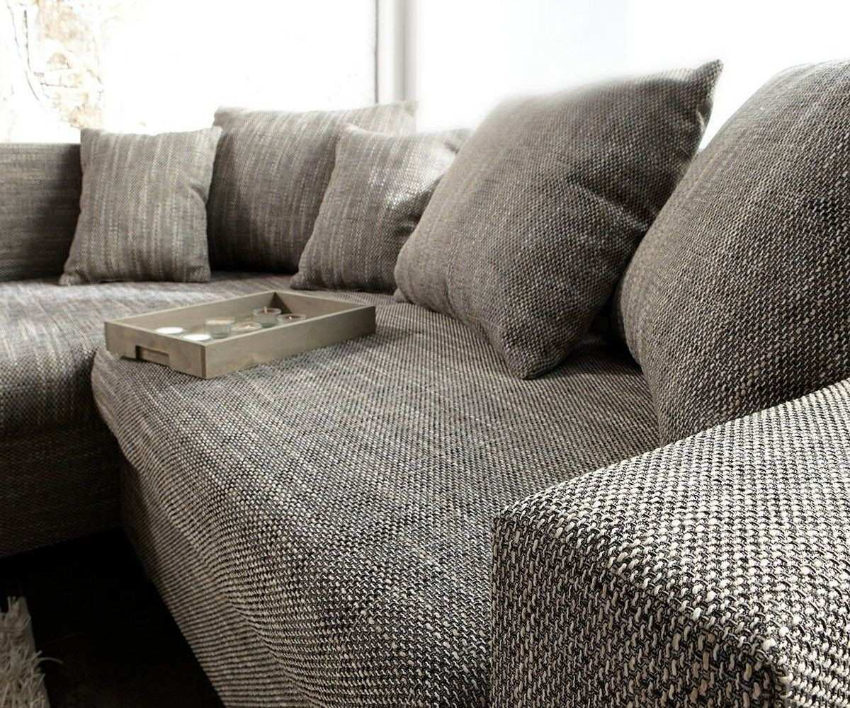 ecksofa lavello 210x210 hellgrau hocker ottomane links. Black Bedroom Furniture Sets. Home Design Ideas
