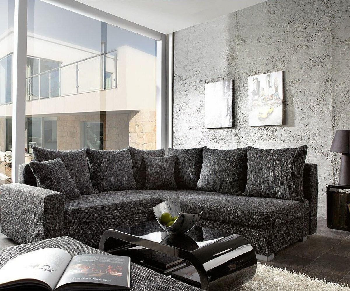 ecksofa lavello 210x210 cm schwarz sofa mit hocker m bel. Black Bedroom Furniture Sets. Home Design Ideas