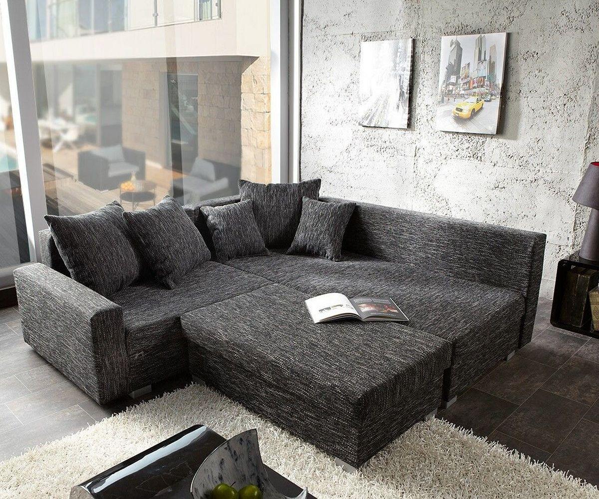 ecksofa lavello 210x210 cm schwarz sofa mit hocker m bel sofas ecksofas. Black Bedroom Furniture Sets. Home Design Ideas