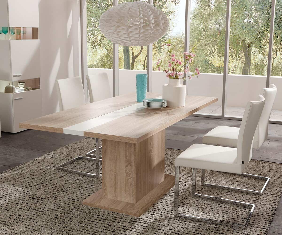 Tisch Arizona Weiss Eiche Sonoma 180x90 cm Esszimmertisch Esstisch  eBay