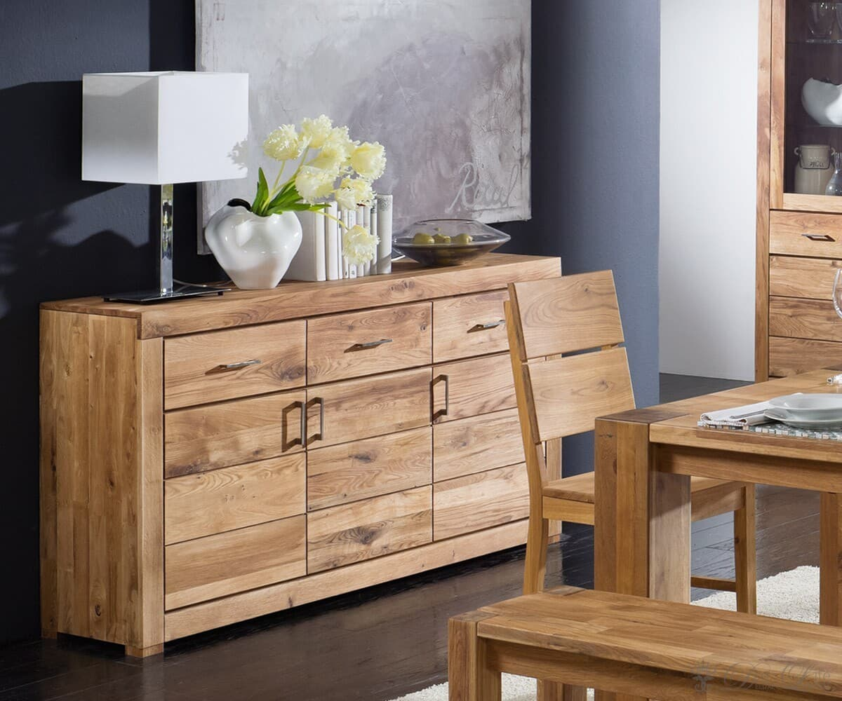 kommode rubikon massiv eiche ge lt 160x90 sideboard ebay. Black Bedroom Furniture Sets. Home Design Ideas