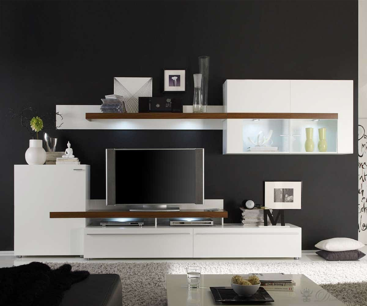 wohnzimmer schwarz braun weiss. Black Bedroom Furniture Sets. Home Design Ideas