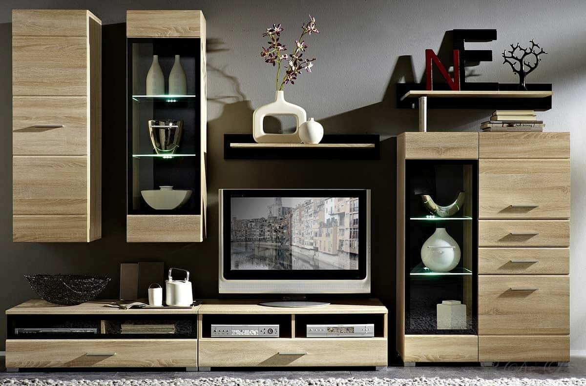dekoration wohnzimmerschrank. Black Bedroom Furniture Sets. Home Design Ideas