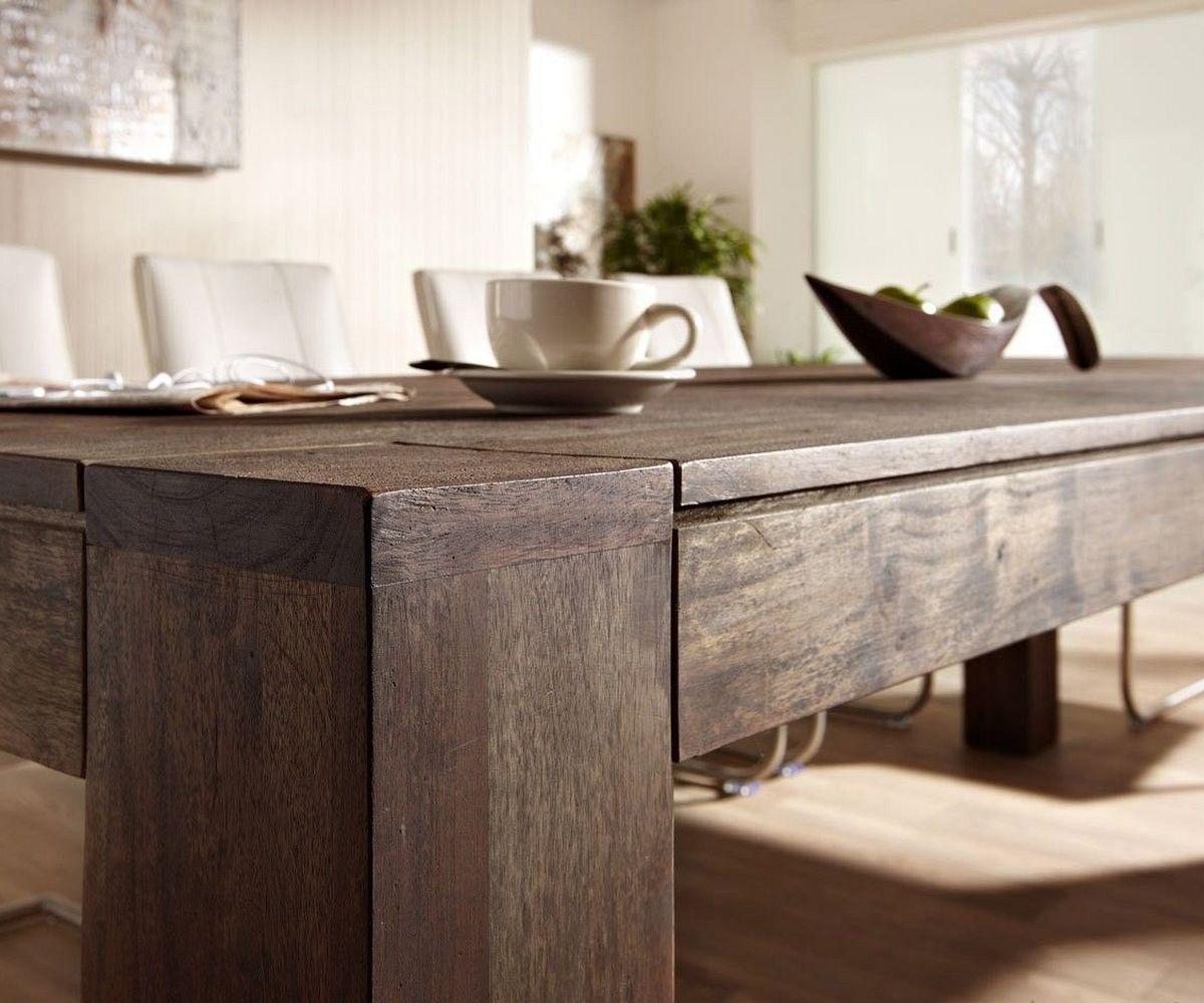 holztisch guru akazie tabak 400x120 cm esstisch by wolf m bel pictures to pin on pinterest. Black Bedroom Furniture Sets. Home Design Ideas