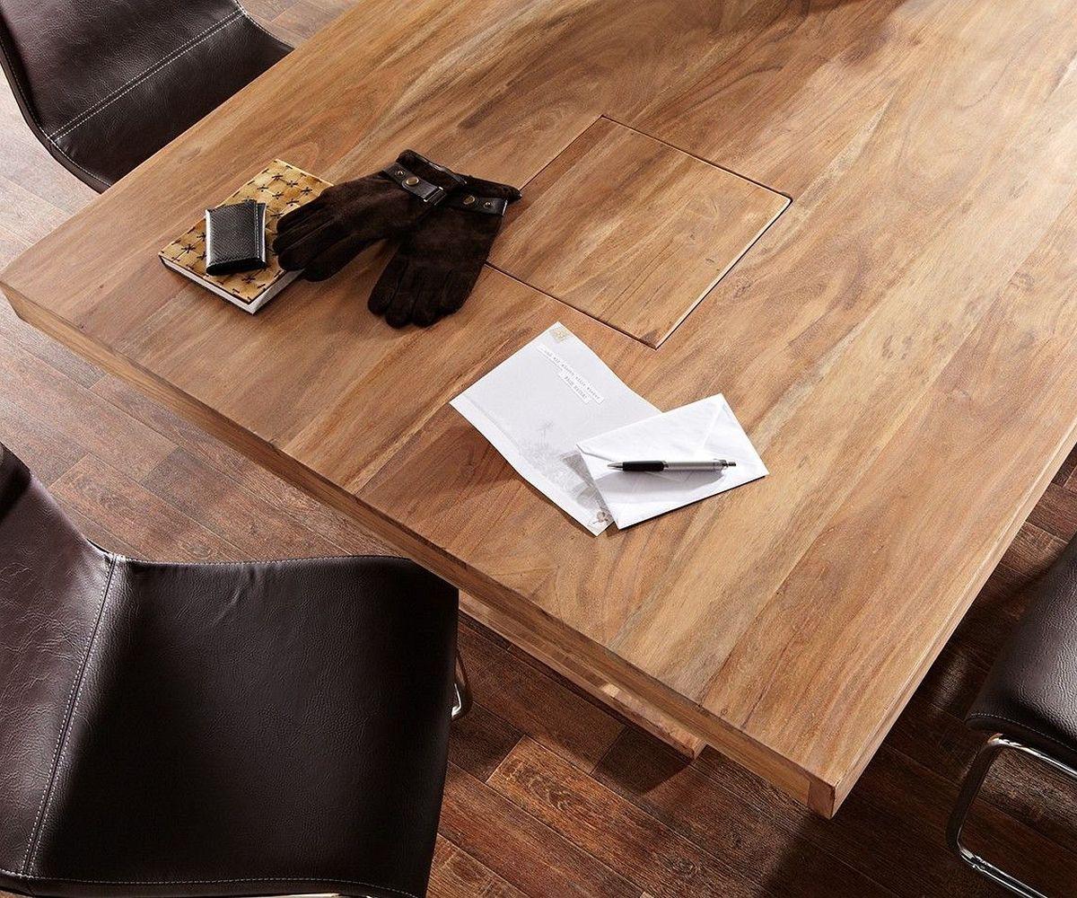 esstischgruppe guru akazie stone esstisch 180x90 6 st. Black Bedroom Furniture Sets. Home Design Ideas