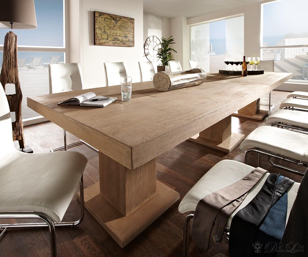 Esstisch Queens Tisch Esszimmer Akazie Massiv ~ Esstisch GURU 300×120 cm Akazie Sand Holztisch Küchentisch Tisch Massiv by Wo