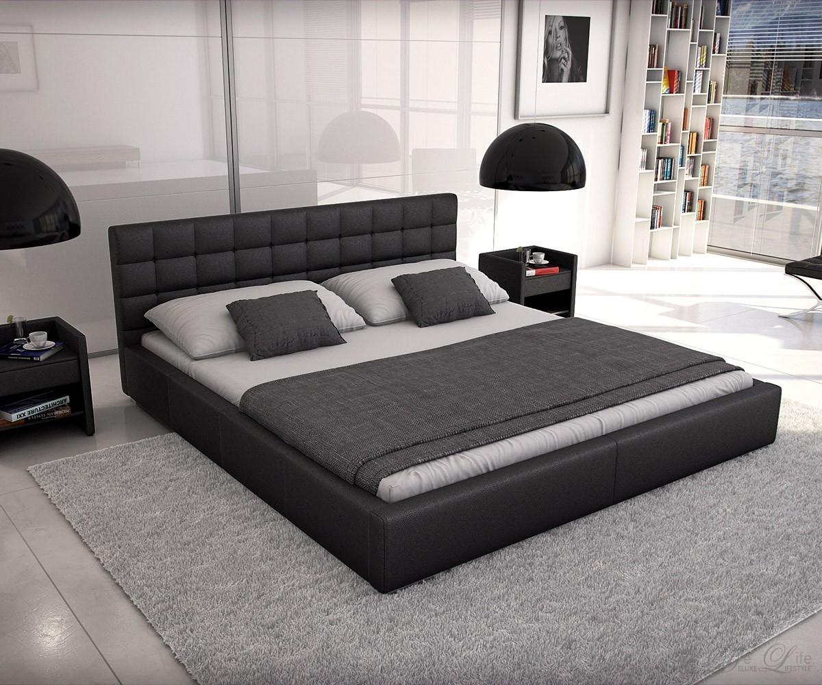polsterbett balduin 200x220 cm schwarz bett 200 cm. Black Bedroom Furniture Sets. Home Design Ideas