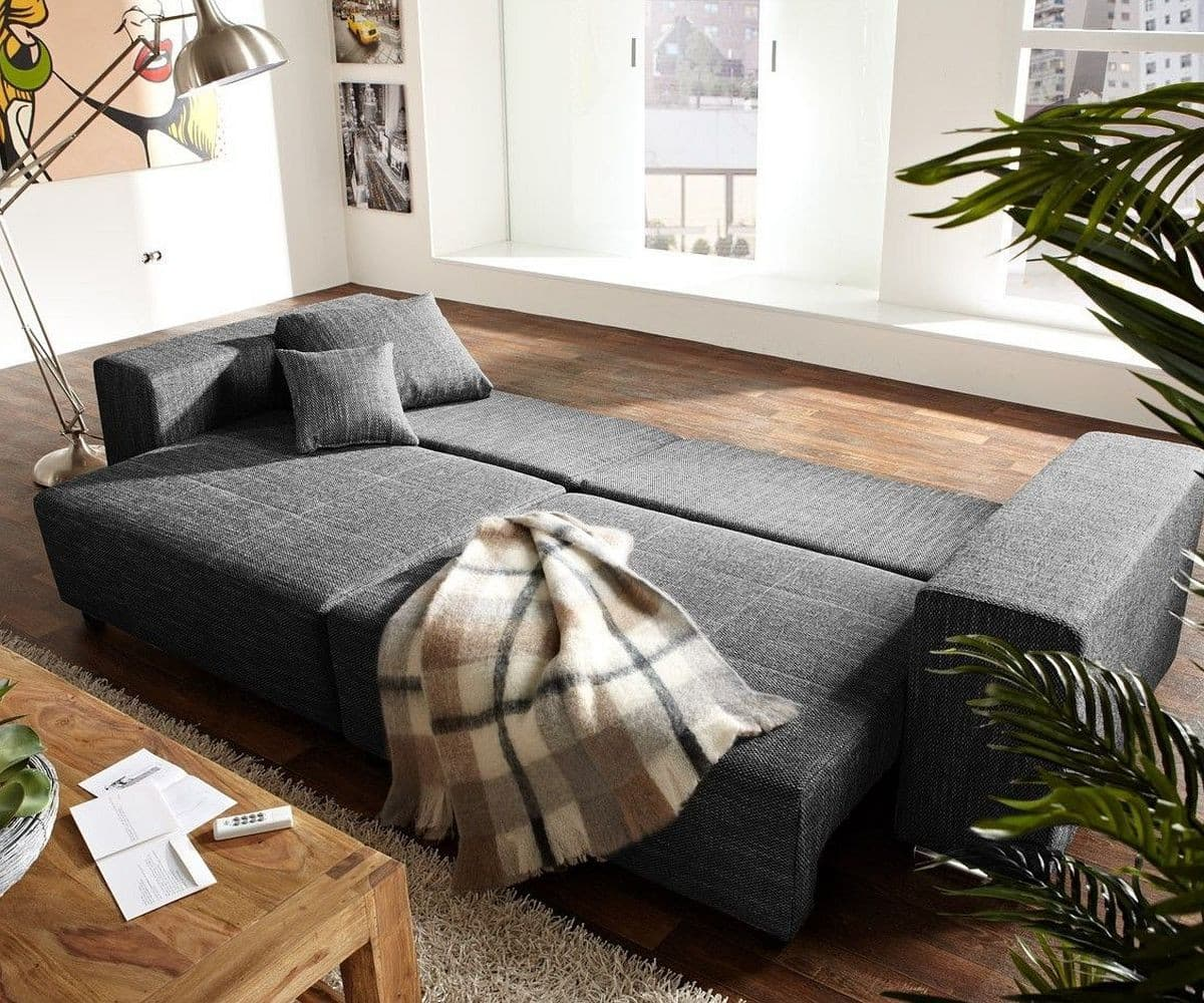 big sofa xxl marbeya 290x110 schwarz mit hocker m bel. Black Bedroom Furniture Sets. Home Design Ideas
