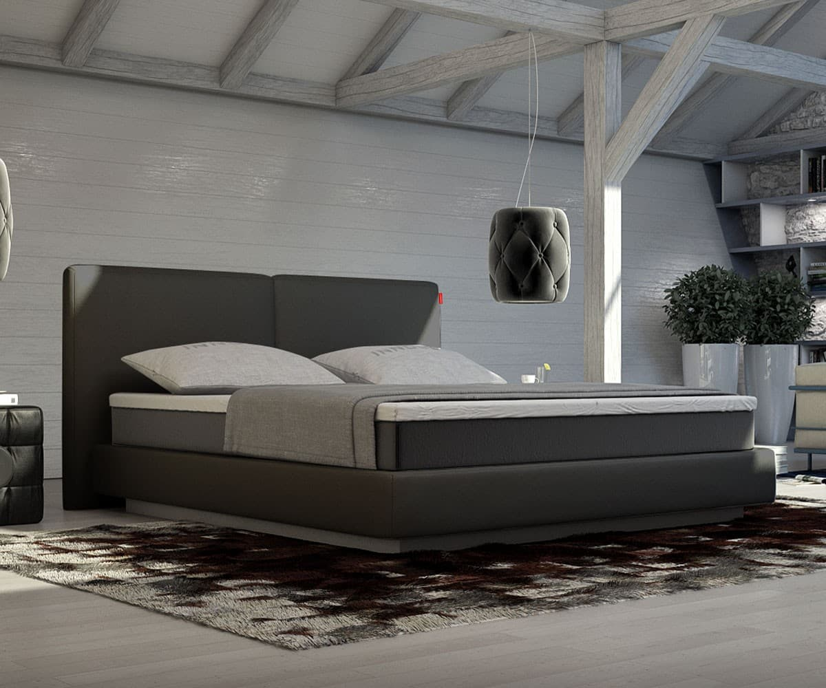 boxspringbett orchid 180x200 schwarz bett mit matratze und topper boxspring bett ebay. Black Bedroom Furniture Sets. Home Design Ideas