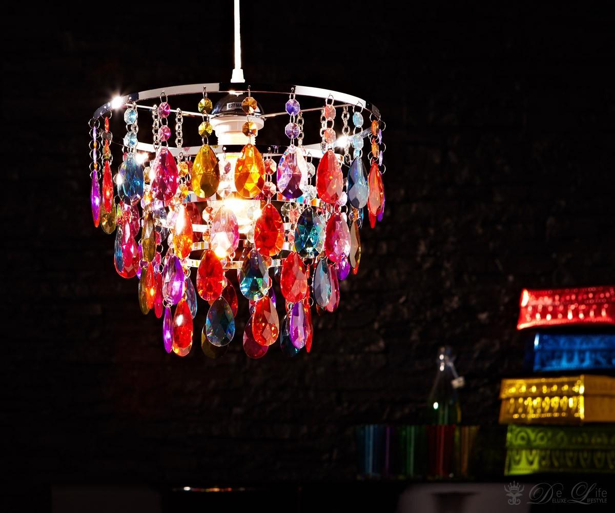 Deckenleuchte Cesaro Bunt Deckenlampe Mit Acryl Kristallen Haengeleuchte