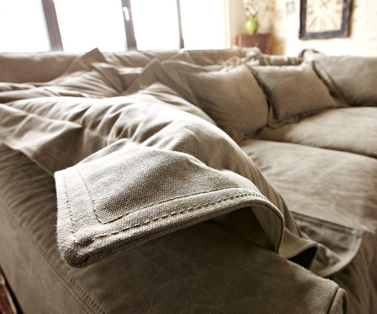 hussen couch weiss mit baumwollbezug 3 er couch in. Black Bedroom Furniture Sets. Home Design Ideas