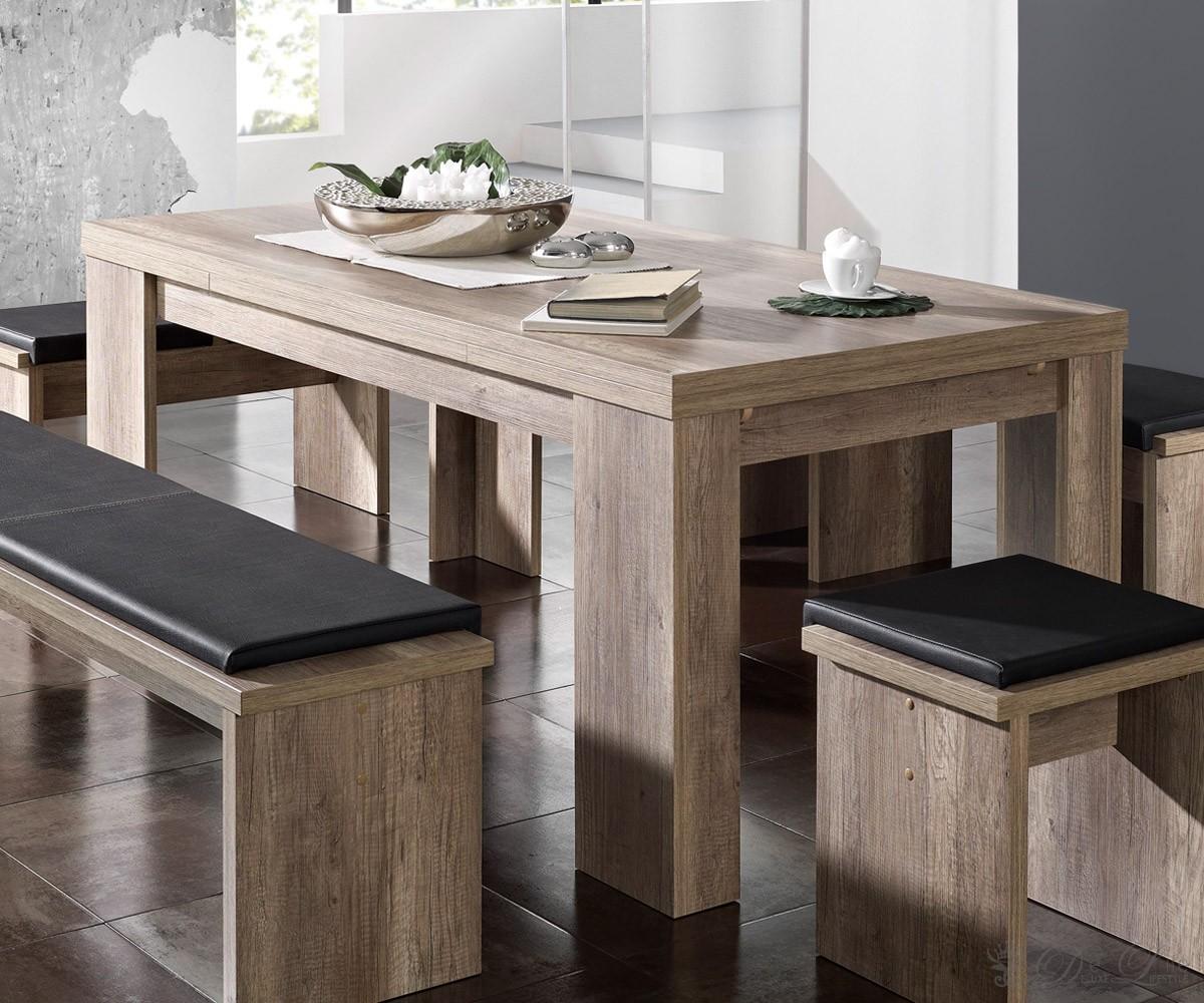 delife esstisch ronin 160 260x90 cm wildeiche trueffel. Black Bedroom Furniture Sets. Home Design Ideas