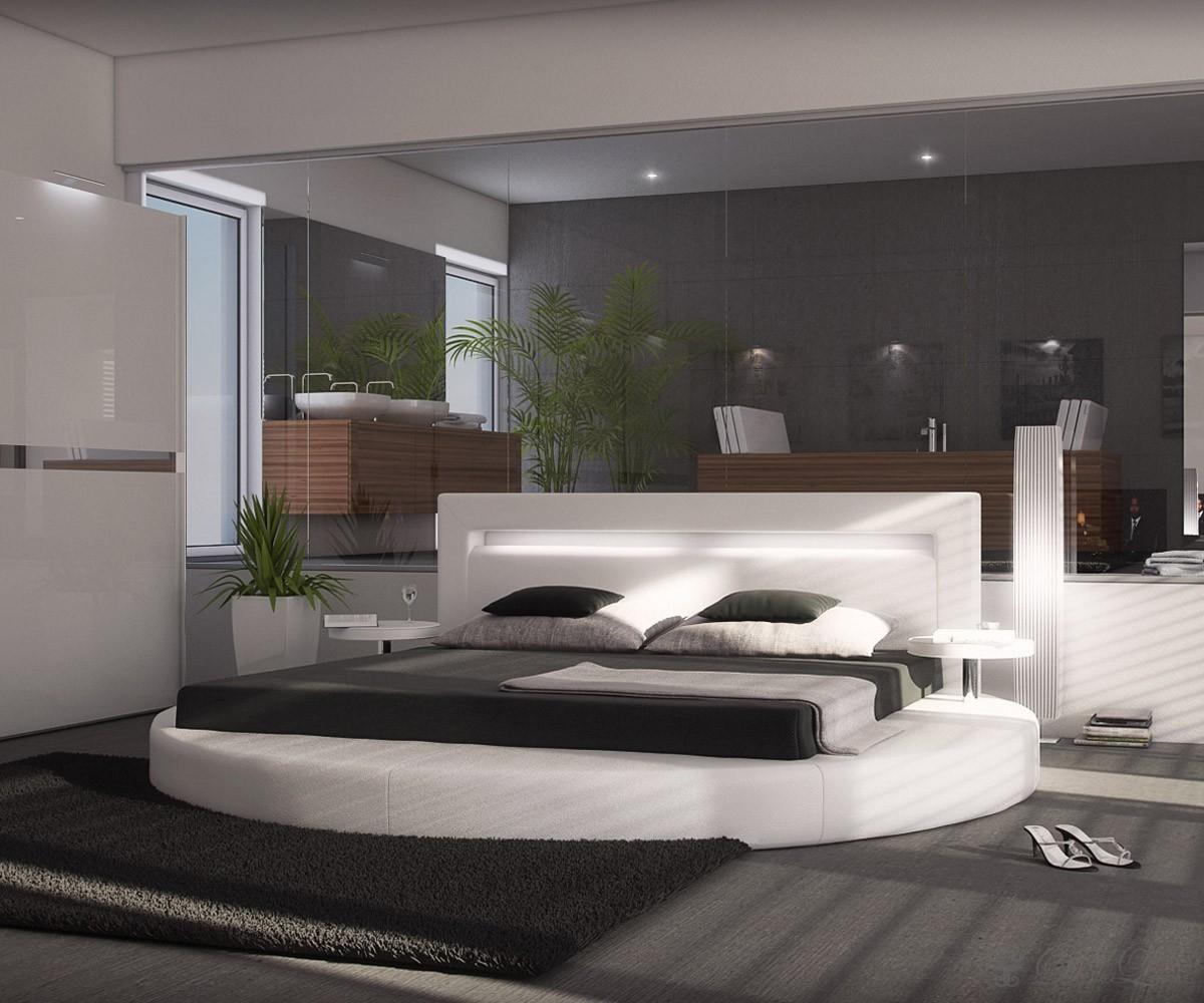 preisvergleich eu bett weiss leder 200x200. Black Bedroom Furniture Sets. Home Design Ideas