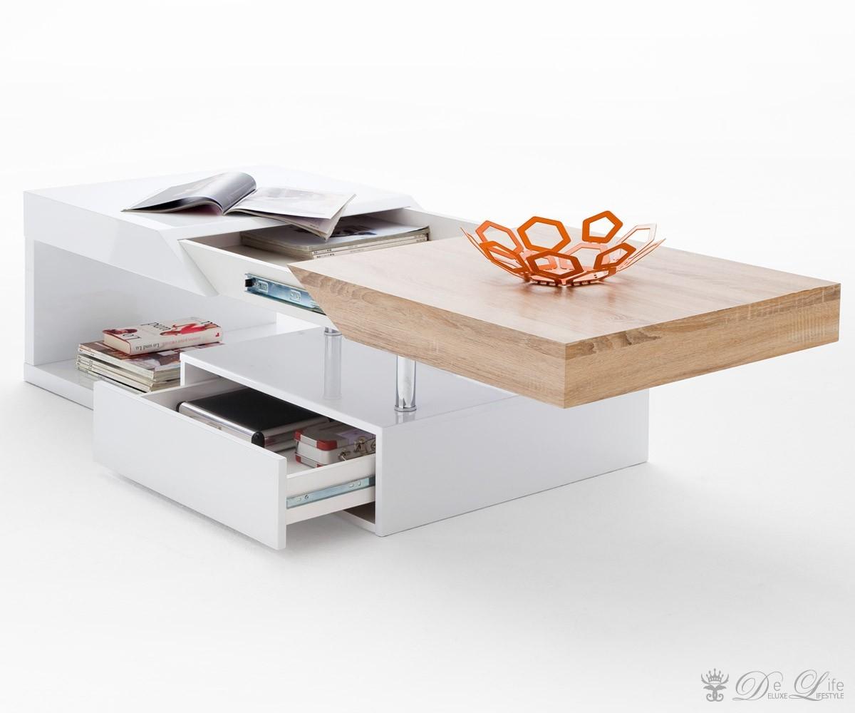 Couchtisch Wohnzimmertisch Weiß Hochglanz Lack 001