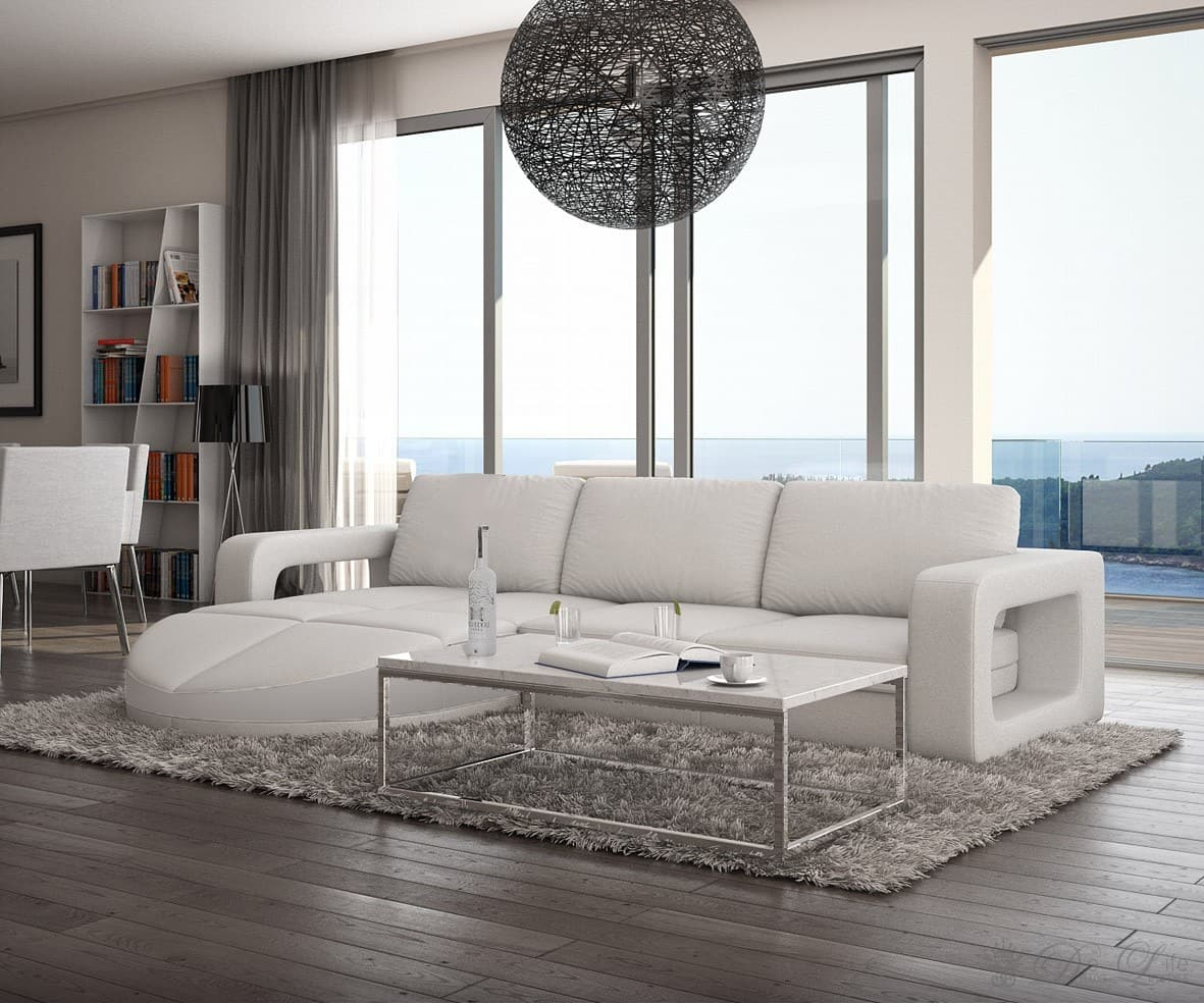 ecksofa marlow 270x190 cm weiss couch ottomane links oder rechts couchgarnitur ebay. Black Bedroom Furniture Sets. Home Design Ideas