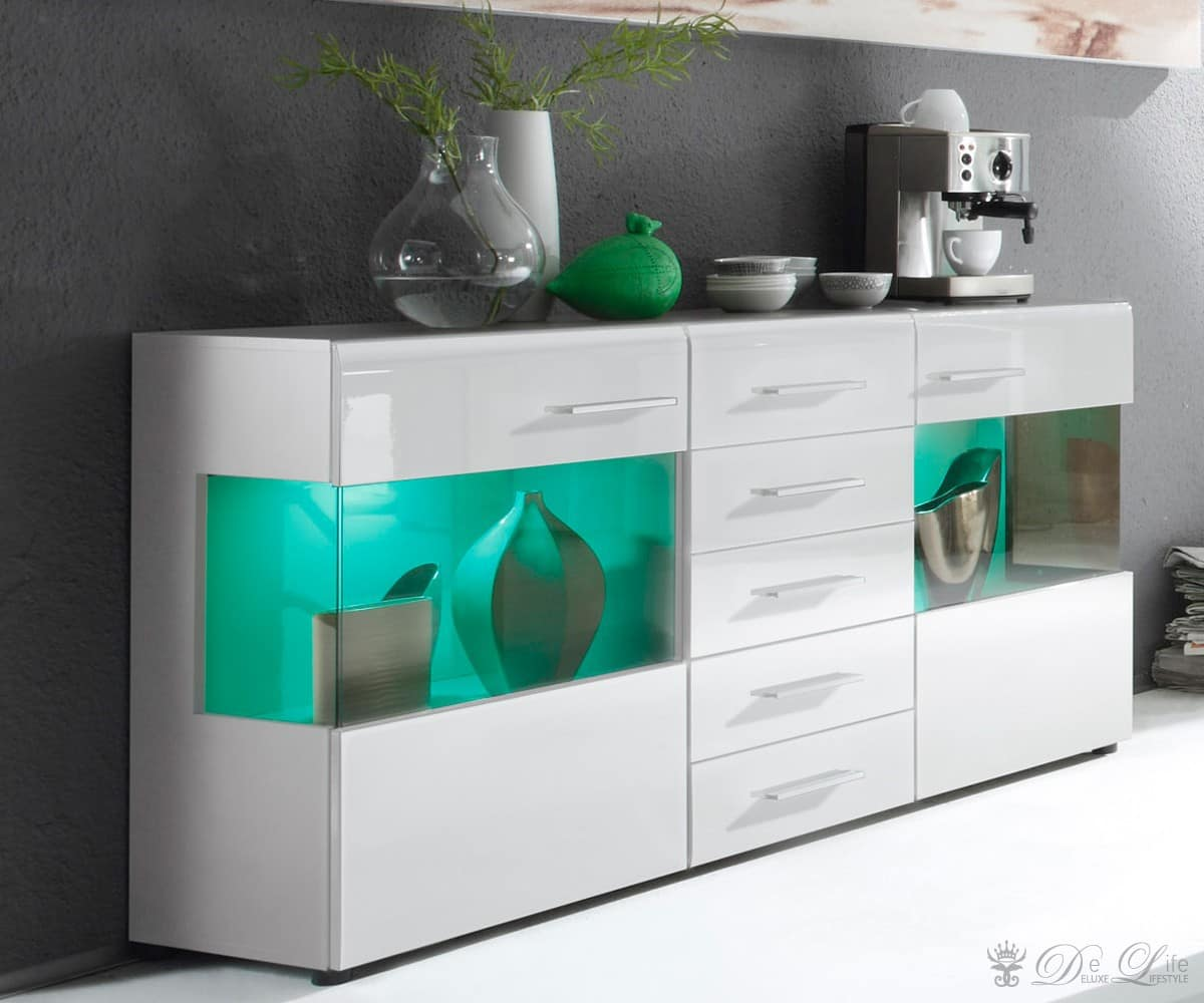 sideboard kommode wei hochglanz lackiert italien vicenza2. Black Bedroom Furniture Sets. Home Design Ideas
