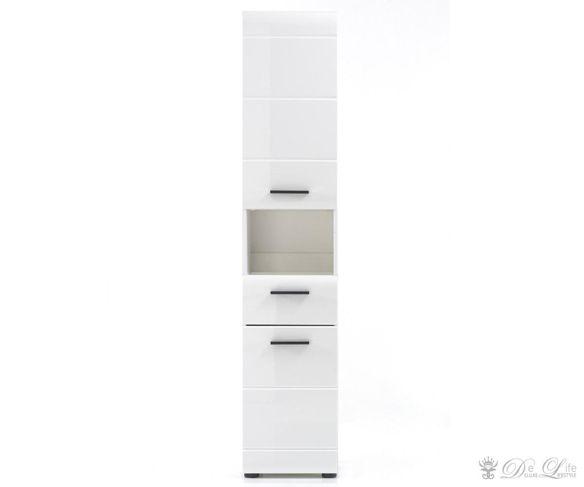 hochschrank clarissa hochglanz weiss 30x182 badschrank 2 t ren ebay. Black Bedroom Furniture Sets. Home Design Ideas